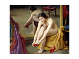 The Red Mules Giclee Print by William McGregor Paxton