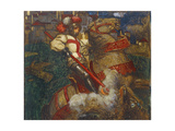 St. George Slaying the Dragon, 1908 Giclee Print by John Byam Liston Shaw