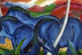Big Blue Horses Giclée-tryk af Franz Marc