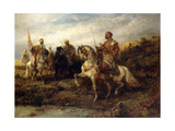Arab Warriors on Horseback Giclee Print by Adolf Schreyer