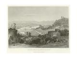 Lyons from La Croix Rousse Giclee Print by Alphonse Marie de Neuville