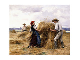 Stacking Hay Giclee Print by Julien Dupre