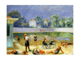 Outdoor Swimming Pool Giclee Print by William James Glackens
