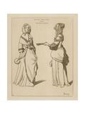 English Women, 1644 Giclee Print by Wenceslaus Hollar