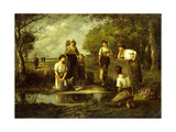 The Laundresses Giclee Print by Leon Richet