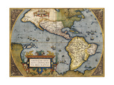 A Map of America, 1612 Giclee Print by Abraham Ortelius
