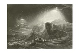 Joshua Summoning the Sun to Stand Still Giclee Print by John Martin