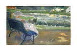 Lydia Seated on a Porch, Crocheting, C.1881 Giclee Print by Mary Cassatt