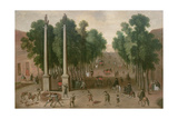 A Market Square in Seville, C.1650 Giclee Print by Juan Bautista Martinez del mazo