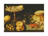 Still Life with Fruit and Shellfish Giclee Print by Peter Binoit