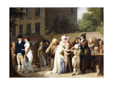 L' Escamoteur Sur Le Boulevards, 1806 Giclee Print by Louis Leopold Boilly