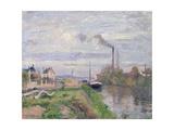 Quai Du Pothuis, at Pontoise, 1876 Reproduction procédé giclée par Camille Pissarro