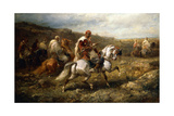 Bedouins on Route Giclee Print by Adolf Schreyer