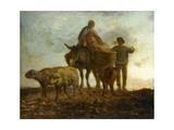 Return from the Fields Lámina giclée por Jean-François Millet