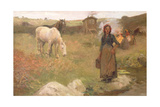 The Gypsy Camp, 1908 Giclee Print by Harold Harvey