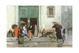 Coming Out of Church, before 1875 Giclee Print by Raimundo de Madrazo Y Garetta