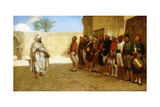 Army Reorganization in Morocco, 1872 Giclee Print by John Evan Hodgson