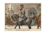 Frederick the Great Entering Breslau, 1741 Giclee Print by Richard Knoetel