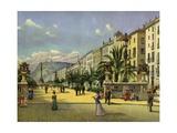 Barcelona, Paseo De Colon Giclee Print