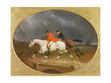 The Return from the Hunt in the Rain Giclee Print by John Frederick Herring Jnr
