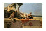 On the Terrace Giclee Print by Jean Joseph Benjamin Constant