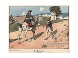 Frederick the Great of Prussia at Burkersdorf Giclee Print by Richard Knoetel