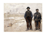 The Two Workmen Giclee Print by Jean Francois Raffaelli