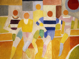 The Runners, 1926 Giclée-tryk af Robert Delaunay
