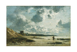 Trouville, the Black Rocks, C.1860-1865 Giclee Print by Eugene Louis Boudin