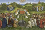 Adoration of the Mystic Lamb Giclee Print by Hubert & Jan Van Eyck