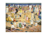 Beach in the Sun, 1914 Giclee Print by William Samuel Horton