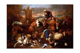 Jacob's Journey into Egypt Giclee Print by Giovanni Benedetto Castiglione