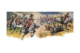 """Into Them, Greys!"" the Charge of the Union Giclee Print by Derek Charles Eyles"