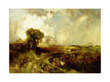 A Summer Shower, 1878 Giclee Print by Thomas Moran