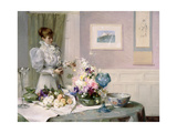 The Flower Arranger Giclee Print by Sir Samuel Henry William Llewelyn