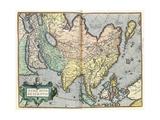Asia, 1592 Giclee Print by Abraham Ortelius