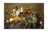 A Basket of Fruit on a Draped Table, C.1635 Giclée-Druck von Adriaen van Utrecht