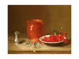 Still Life of Cherries in a Bowl Giclée-Druck von Antoine Vollon