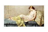 The Boudoir Rose, 1879 Giclee Print by Henry Thomas Schafer