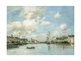 Fecamp, the Basin, 1892 Giclee Print by Eugene Louis Boudin