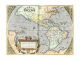 The Americas, 1592 Giclee Print by Abraham Ortelius