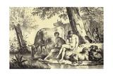 Riverbank Scene Giclee Print by Adriaen van de Velde