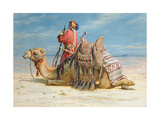A Nomad and His Camel Resting in the Desert, 1874 Giclee Print by Carl Haag