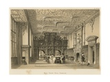 Hall, Crewe Hall, Cheshire Giclee Print by Joseph Nash