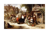 Market Day, the Arrival of the Hippodrome Giclee Print by George Bernard O'neill