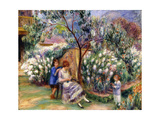 In the Garden, 1917 Giclee Print by William James Glackens