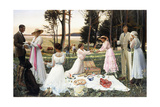 The Afternoon Picnic, 1919 Giclee Print by Harald Slott-Moller
