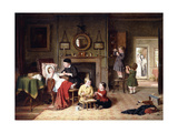 Playing Doctor, 1863 Giclee Print by Frederick Daniel Hardy