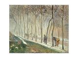 The Road Through the Wood Reproduction procédé giclée par Camille Pissarro