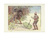 The Superiority of Man, Act I, the Lion at Home Giclee Print by Phil May